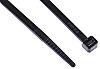 RS PRO Black Cable Tie Nylon, 368mm x 4.8 mm