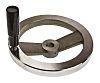 RS PRO Die Cast Aluminium Hand Wheel, 200mm