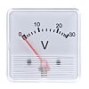 HOBUT DC Analogue Voltmeter, 30V, 41.5 (Dia.) mm,
