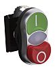 BACO Oval Green, Red Push Button Head -