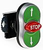 BACO BACO Series, Green/Red/Green Push Button Head, Spring