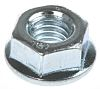 14.2mm Bright Zinc Plated Steel Hex Flanged Nut,