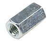 24mm Bright Zinc Plated Steel Coupling Nut, M8