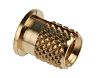 RS PRO, M4 Brass Threaded Insert diameter 5.6mm