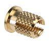 RS PRO, M5 Brass Threaded Insert, 8mm diameter