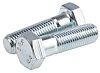 Clear Passivated, Zinc Steel Hex Bolt, M16 x