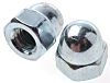 M6 Bright Zinc Plated Steel Dome Nut