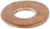 Copper Plain Washer, 0.5mm Thickness, M3