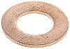 Copper Plain Washer, 1.6mm Thickness, M12