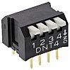 2 Way Through Hole DIP Switch SPST, Lever