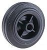 Guitel Black Rubber Castor Wheels 51001200, 100daN