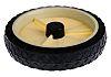 Guitel Black, White Rubber Trolley Wheel, 50kg