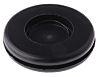 Richco Black PVC 25.5mm Round Cable Grommet for