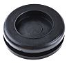 Richco Black PVC 19mm Round Cable Grommet for
