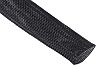 RS PRO Expandable Braided PET Black Cable Sleeve,