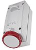 Scame Switchable IP67 Industrial Interlock Socket 3P+E, Earthing Position 6h, 32A, 415 V