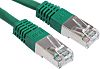 RS PRO Green Cat6 Cable S/FTP PVC Male