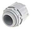 RS PRO M25 Straight Cable Conduit Fitting, Grey