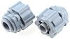 RS PRO Straight Cable Conduit Fitting, Grey 16mm