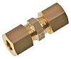 Legris 6mm Straight Equal End Coupler Brass Compression