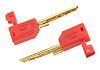 Multi Contact Red Male Banana Plug - Solder,