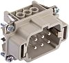 H-BE Series Cable Mount Connector Insert, Male, 6