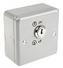 MK Electric 1 Gang Key Operated Socket Switch,