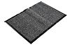 COBA Vynaplush Anti-Slip, Door Mat, Carpet, Indoor Use, Black/Grey, 1.2m 1.8m 7mm