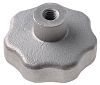 RS PRO Silver Multiple Lobes Clamping Knob, M6