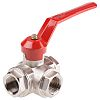 RS PRO Brass Reduced Bore Ball Valve 1
