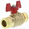 RS PRO Brass Reduced Bore Ball Valve 2