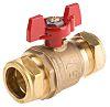 RS PRO Brass High Pressure Ball Valve 28