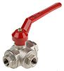 RS PRO Brass Reduced Bore Ball Valve 3/8