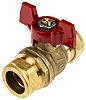 RS PRO Brass Manual Ball Valve 22 mm