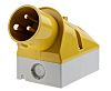 MENNEKES IP44 Yellow Wall Mount 3P 25 °