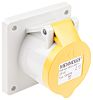 MENNEKES IP44 Yellow Panel Mount 3P Industrial Power