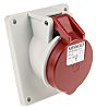 MENNEKES IP44 Red Panel Mount 4P Angled Industrial