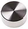 RS PRO 38mm Silver Potentiometer Knob for 6.4mm Shaft