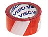 RS PRO Red/White 100m Hazard Tape, 50mm x