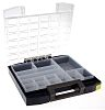 Raaco 14 Cell Blue PC, PP Compartment Box,