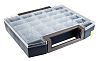 Raaco 25 Cell Grey PC, PP Compartment Box,