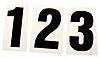 RS PRO Black Numeric Label, 30mm