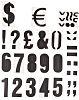 RS PRO Black Numeric Label, 75mm