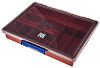 RS PRO 9 Cell Red PP Compartment Box,