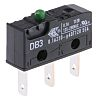 SPDT-NO/NC Button Microswitch, 100 mA @ 250 V