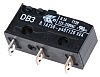 SPDT-NO/NC Button Microswitch, 100 mA @ 30 V