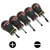 Facom Compact Slotted; Phillips Screwdriver Set 5 Piece