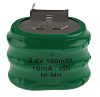 RS PRO 3.6V NiMH Button Rechargeable Battery, 160mAh