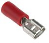 RS PRO Red Insulated Crimp Receptacle, 4.8 x