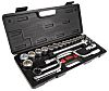 RS PRO 25 Piece Square Drive Socket Set, 1/2 in Square Drive